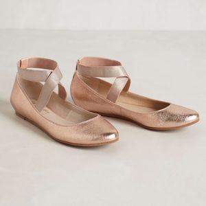 Seychelles Rose Gold Partita Ballet Flats